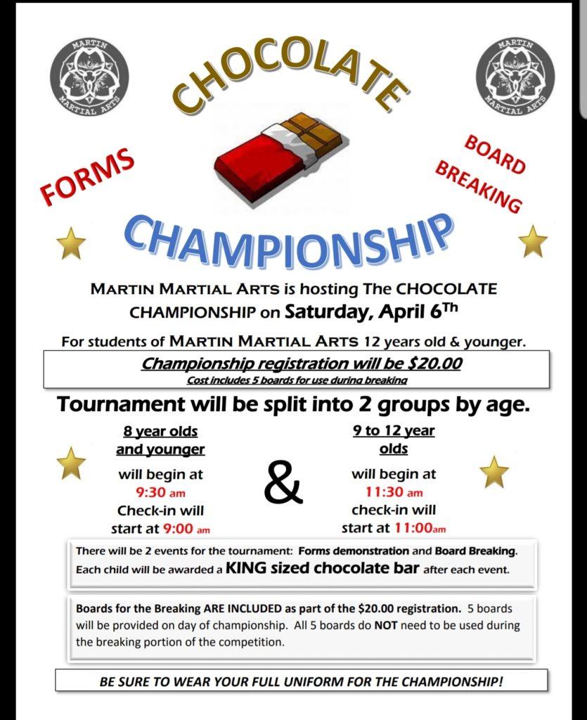 Chocolate Championship @ Martin Martial Arts